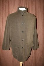 Ermenegildo Zegna Button Up Jacket Coat Brown Pockets Made in Italy Size 50