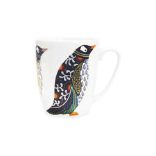 More details for paradise birds fine china mug penguin 400ml oak shaped from queens churchill