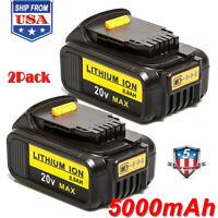 2x For DEWALT DCB205-2 20V 20 Volt Lithium Ion 5.0AH Battery Packs New DCB200 US