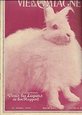 Vie à la Campagne 1923 vol XX +Tous les LAPINS de bon rapport : races, fourrures