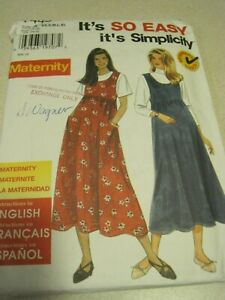 SIMPLICITY 7445 MISSES' MATERNITY JUMPER It's So Easy Sewing Pattern UNCUT