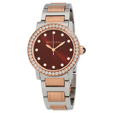 Bvlgari Bvlgari Brown Dial Diamond Automatic Ladies Watch 102478