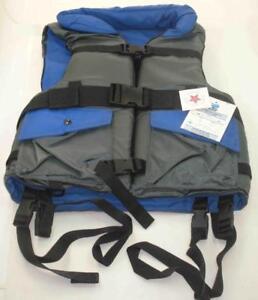 Wellington High Performance Safety Life Vest Blue Small Medium 100MPH USA 6677