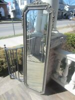 "Large Antique Mirror Beveled Deco 53 1/2"" x 15 1/2"""