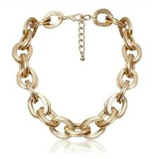 Punk Hip Hop Big Oversized Chunky Aluminum Gold Thick Chain Choker Huge Necklace
