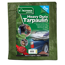 Heavy Duty Tarpaulins Kingfisher Assorted Sizes Car Cover Frost '6x4' 6x9' 8x12'