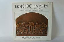Erno Dohnanyi, String Quartet in A major & D flat major, Kodaly Quartet Vinyl(9)
