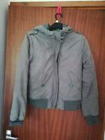 H&M Ladies khaki green bomber winter coat jacket size 14 (40)