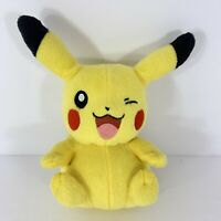 """Winking Pikachu Pokemon Plush 8"""" Tall by Tomy - Pre-owned"""