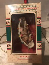 Enesco Christmas Ornament: Time Out! Mouse In Hammock New In Box