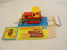 MATCHBOX LESNEY #16D DARK RED WITH GREEN TREADS CASE TRACTOR WITH ORIGINAL BOX
