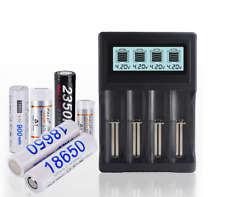 LCD Intelligent Lithium USB Battery Charger for 18650 17670 26650 14500 16340