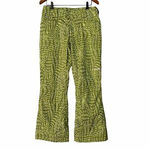 Spyder Snowboard Ski Pants Size 8 Green XT 10,000 Zippered Pockets
