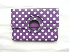 Cover for Ipad Mini Foldable Stand Spotty Rotating Purple