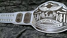 NEW World Championship Belt Emperor Model Silver Gold Accents Gold Screws Snaps