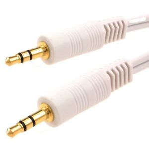 3.5mm Jack to Jack Aux Cable STEREO Audio Auxiliary Lead PC Car GOLD Lot