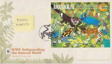 TALLENTS PMK GB ROYAL MAIL FDC 2011 WWF AMAZON LIFE MINIATURE SHEET