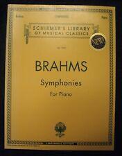 Brahms Symphonies For Piano-Schirmer Vol. 1999 Nos-4Qsmc