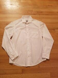 JOSEPH ABBOUD Big Boys White Dress Shirt Collared Shirt Wedding Holiday - 16