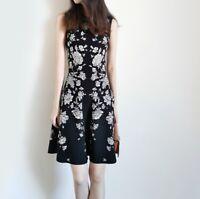 AUTH Ted Baker NAOMYY Sleeveless Knitted Skater dress Black 0-5