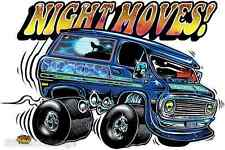 Night Moves Sticker Decal by Artist Dirty Donny DD34 Roth Like