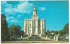 "St. George Utah ""Morman"" (Mormon) LDS Temple,George McLean,New Vintage Postcard"