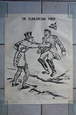 Rare affiche Première Guerre mondiale THE $3,000,000,000 PUNCH Jo Davidson