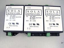 3x SOLA SCP 30 S 5-DN LOW PROFILE 30 WATT POWER SUPPLY SCP30S SCP 30S