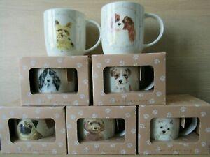 8 Designs Dog Mugs - Spaniel Jack Russell Westie Pug Cockapoo Alsation Yorkie