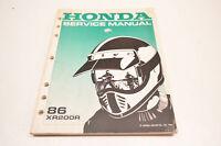 OEM Honda 61KT000 86 XR200R Service Manual