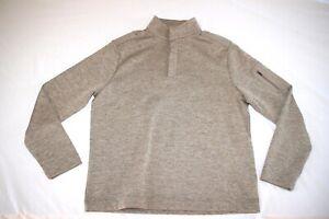 Greg Norman Mock Neck Henley Shirt Men M Brown NEW Cold Weather