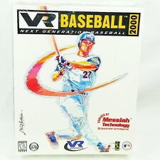 NEW Sealed VR Baseball 2000 (1998 PC) CD MLB Big Box VR Sports - Windows 95 / 98