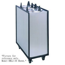 Apw Wyott Hml3-5 Mobile Enclosed Heated 3 Tube Dish Dispenser