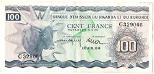 Billet ancien Rwanda Burundi cent francs 1960 bon état