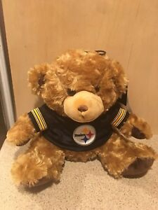 Pittsburgh Steelers NFL Seated T-Shirt Tan Plush Teddy Bear - New With Tags