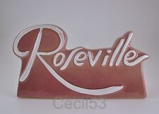 ROSEVILLE POTTERY DEALER CERAMIC SIGN PLAQUE PINK