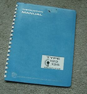 Tektronix TYPE 122-125 Preamplifier Service Manual all Schematic, Parts: 070-246