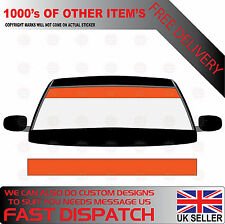 GLOSS ORANGE WINDSCREEN SUNSTRIP 2000mm x 190mm VAN DECALS GRAPHICS STICKERS