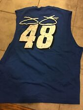 AWESOME NEW JIMMIE JOHNSON CHASE AUTHENTICS NAVY SLEEVELESS TOP SZ 2XL