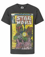 STAR WARS Adult T-Shirt BOBA FETT Comic Style Mens T-Shirt Size Small - X-Large