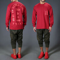 I Feel Like Pablo Red Long Sleeve T-Shirt Shirts Men's Sweater Pullover Tops Lot