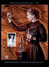 Internationale Physikolympiade, Marie Curie. Ersttagsblatt. Slowakei 2017