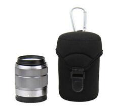 Lente JJC caso bolsa bolsa para Olympus 60mm f/2.8 Canon EF-M 18-150mm Sony FE 50mm
