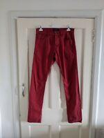 Scotch & Soda Men's Ralston Slim Fit Red Jeans W29 L34