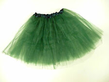 TUTU DARK GREEN SATIN BAND HALLOWEEN HEN PARTY NET FITS UPTO SIZE 18