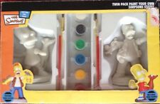 THE SIMPSONS PAINT YOUR OWN SIMPSONS Statue Twin Pack Neuf/boîte scellée avec brosse