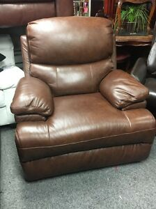 Tan Leather Lazboy Chair Nice Thick Leather Non Recliner