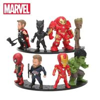 LOT E 8 MINI FIGURINES MARVEL AVENGERS ENDGAME GROOT IRON MAN HULKBUSTER THOR