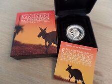2011 Australian Kangaroo 1 Oz Silver Coin Proof High Relief Perth Mint COA