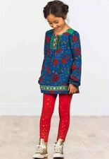Matilda Jane I Believe Tunic Top Girls Size 4 Red/Blue/Floral  NWOT